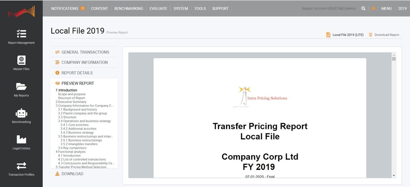 TPGenie Basic - transfer pricing documentation software