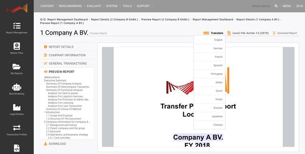 TPGenie - translation of Transfer Pricing documentation